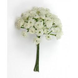 Mazzo 6 gruppi fiori gypsophila bianca. Fiorellino Diam. 1
