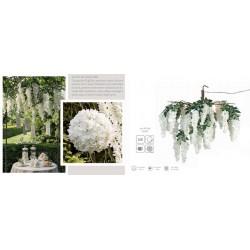 Lampadario cascata glicine bianco. Diam. 90 CM - 54 luci LED