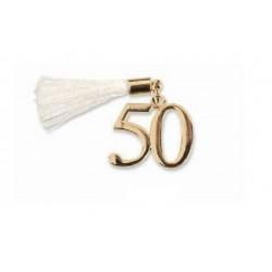 Applicazione 50° metallo con nappa. CM 2
