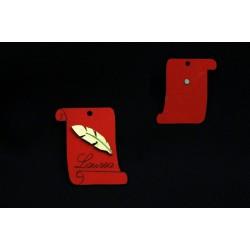 Pergamena legno laurea con calamita. CM 4.5x5