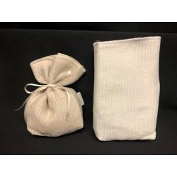 Sacchetto tessuto con base. CM 8x14 MADE IN ITALY