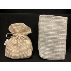 Sacchetto doppio tessuto, organza e rete. CM 8x13 MADE IN ITALY