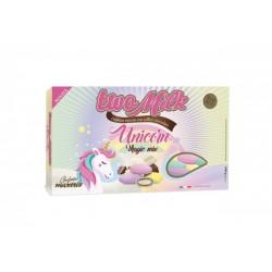 Confetti doppio cioccolato, colori pastello unicorno. KG 1