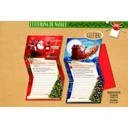 Biglietto letterina a Babbo Natale. Ass 2. CM 12x17