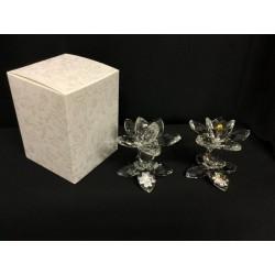 Fiore cristallo con placca 25°-50°e scatola . H7 MADE IN ITALY