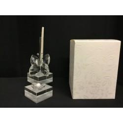 Profumatore cristallo con farfalla e scatola. H 11.5 MADE IN ITALY