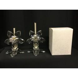 Profumatore cristallo con placca 50°e sacra famiglia con scatola.H 10