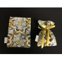 Sacchetto tessuto stampa maioliche.CM 14x10.5 MADE IN ITALY
