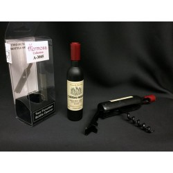 Bottiglia di vino con calamita e apribottiglie, completo di scatola pvc. H 11.5