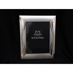 Portafoto silver satinato con decoro lucido 20x25