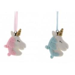 Applicazione unicorno rosa /azzurro tipo pasta di sale. CM 4x4,5