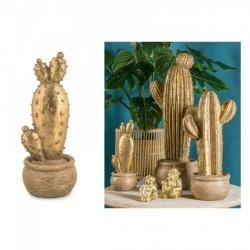 Cactus in poliresina oro H29.5