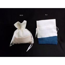 Sacchetto doppio tessuto con tirante. CM 9x12