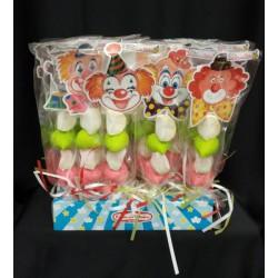 Spiedino marshmallow con figure circo in cartoncino GR 25 CM 30 (Set da pz 30 )