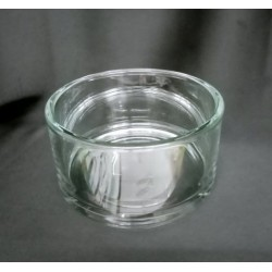 Vaso tondo vetro Diam. 15,3 H 8