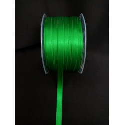Nastro doppio raso VERDE SMERALDO.MM.10 MT.100 MADE IN ITALY