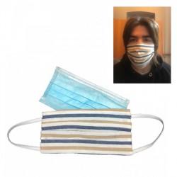 Copri mascherina in tessuto lavabile in lavatrice, unisex, taglia unica adulto con tasca per poter inserire le mascherine chirur