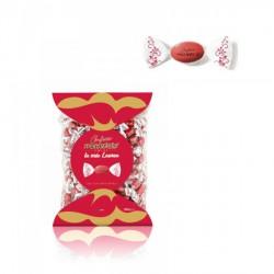 Confetti cioccomandorla rossi incartati singolarmente. Busta da KG 1