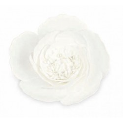 Rosa lattice da appendere con pistilli e perle interne. Diam. 20