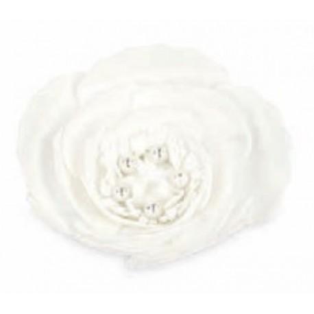Rosa lattice da appendere con pistilli e perle interne. Diam. 13