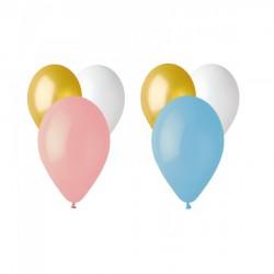 Set 50 palloncini lattice, adatti per gonfiaggio aria o ad elio. Assortiti come campioni in foto.