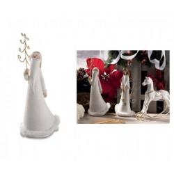Babbo Natale in resina con dettagli in pelliccia sintetica. CM 24