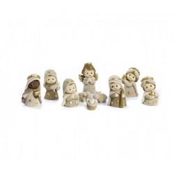 Set 10 personaggi presepe spiritoso in resina. CM 5.8