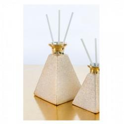 Profumatore piramide gold. Base CM 9x9 H 13