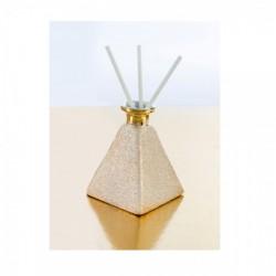 Profumatore piramide gold. Base CM 7x7 H 9