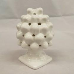 Pigna in porcellana bianca con luce led. CM  11