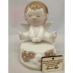 Carillon porcellana con angelo. Diam. CM 9 h 14