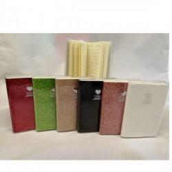 Block Notes glitterato con copertina plastificata. CM 7x11 (colori a scelta)