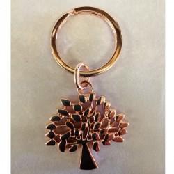Portachiavi metallo lucido albero della vita rose gold. CM 7