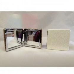 Specchio da borsetta glitter CM 6x6