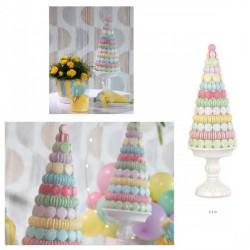 Albero in resina decorativo per Candy Bar con macaron multicolor. CM 41