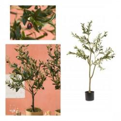 Albero olivo artificiale con vaso. CM 125