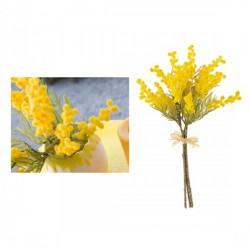 Mazzo con 3 rametti di mimosa artificiale. CM 38