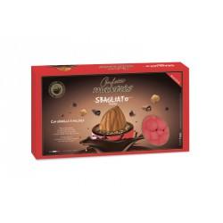 Confetti cioccomandorla con granella di nocciola, colore ROSSO KG 1