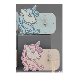 Orologio unicorno con dettagli plexi rosa o azzurro CON BOX L.17X14