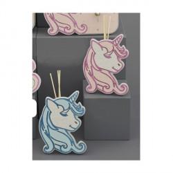 Profumatore unicorno con dettagli plex rosa o azzurri CON BOX H.17X10