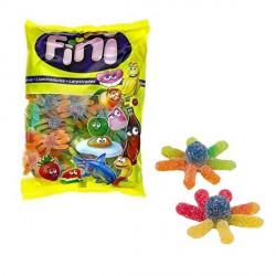 Caramelle gommose multicolor forma polipo ricoperte zucchero. KG 1 SENZA GLUTINE