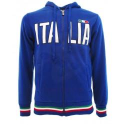 Felpa  Italia zip/cap