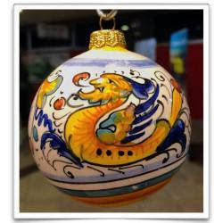 Sfera in ceramica Raffaellesco di Deruta - diametro 12cm - Artigianato Artistico Fatto a Mano