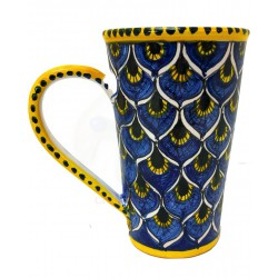 Tazza da caffè americano in ceramica di Deruta - decori diversi - altezza 15cm - Artigianato Artistico Fatto a Mano