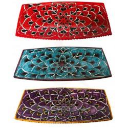 Piatto in ceramica Sushi decorato a mano diversi decor - 25x13 cm - Artigianato Artistico Fatto a Mano