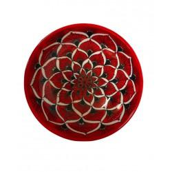 Piatto cupo in ceramica di Deruta - decori diversi - diametro cm 25 - Artigianato Artistico Fatto a Mano