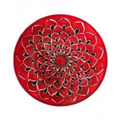 Piatto piano in ceramica di Deruta - decori diversi - diametro cm 28 - Artigianato Artistico Fatto a Mano
