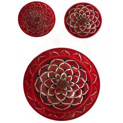 set piatti in ceramica piano-cupo-frutta-fondina  Deruta -decori diversi - diam. cm 28-25-20 Artigianato Artistico fatto a mano