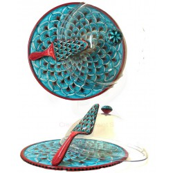 Centro tavola in ceramica di Deruta - decori diversi - diametro cm 35 - Artigianato Artistico Fatto a Mano