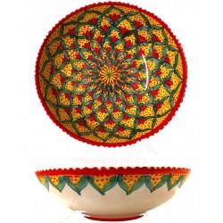 Insalatiera in ceramica di Deruta - decori diversi - diametro cm 20 - Artigianato Artistico Fatto a Mano